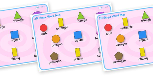 Twinkl Resources >> Shape Word Mat  >> Thousands of printable primary teaching resources for EYFS, KS1, KS2 and beyond! word mat, writing aid, 2D shape names, shape flashcards, shape pictures, shape words, 3D flashcards,