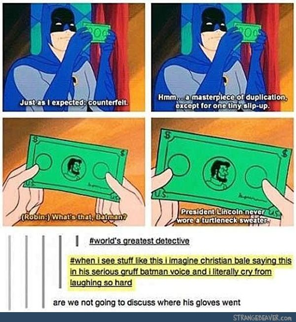 This is from the episode where Scooby-Doo meets Batman- And where did the gloves go?? O.O