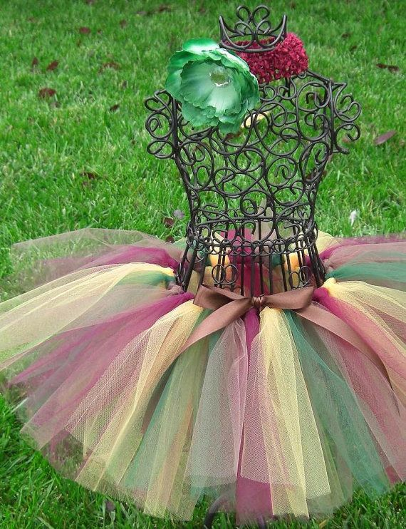 Girls Tutu Autumn TutuENCHANTED FOREST Girl by TheSugaredRibbon, $21.50