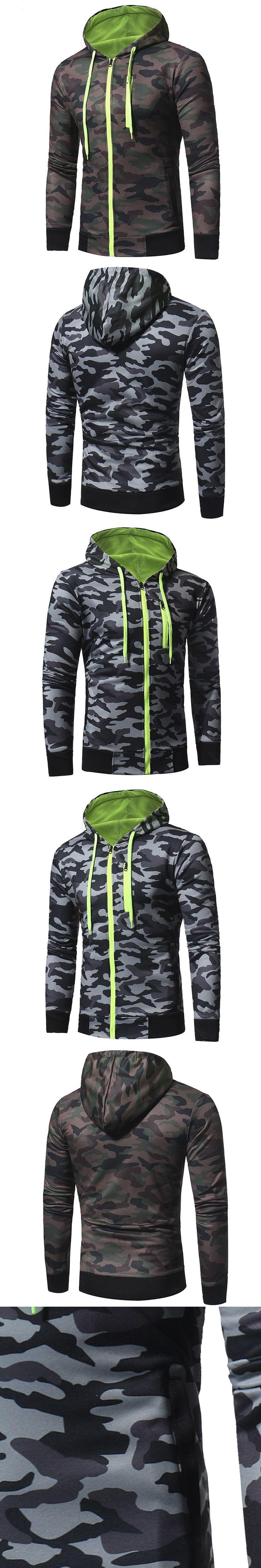 New Men Hooded Hoodies Plus Size Military Camouflage Sweatshirt Jacket Tactical Hoodie Coat Autumn Winter Male Top Tracksuit 3XL