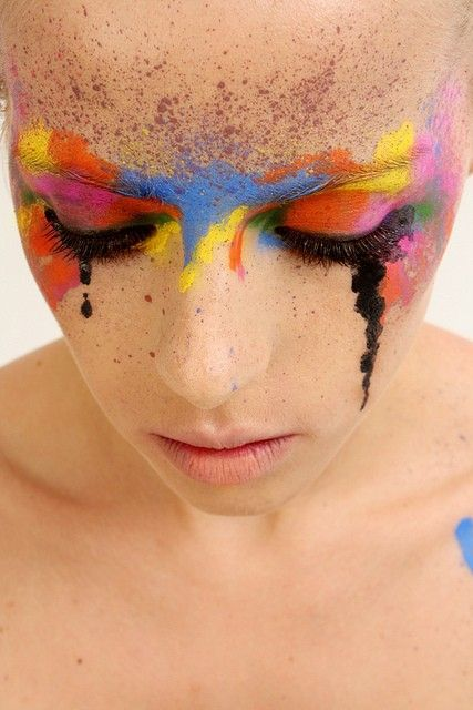 Make-Up: Makeup, Art, Colors Fashion Photography, Colours Face, Bold Colors, Face Painting, Eye, Photography Inspiration, Beautiful Products