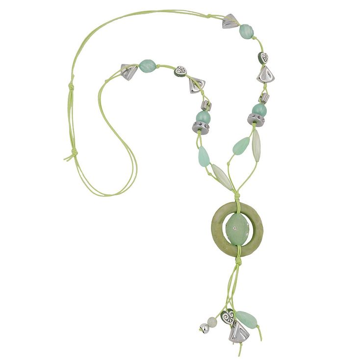 Necklace Light-Green And Oliv Beads