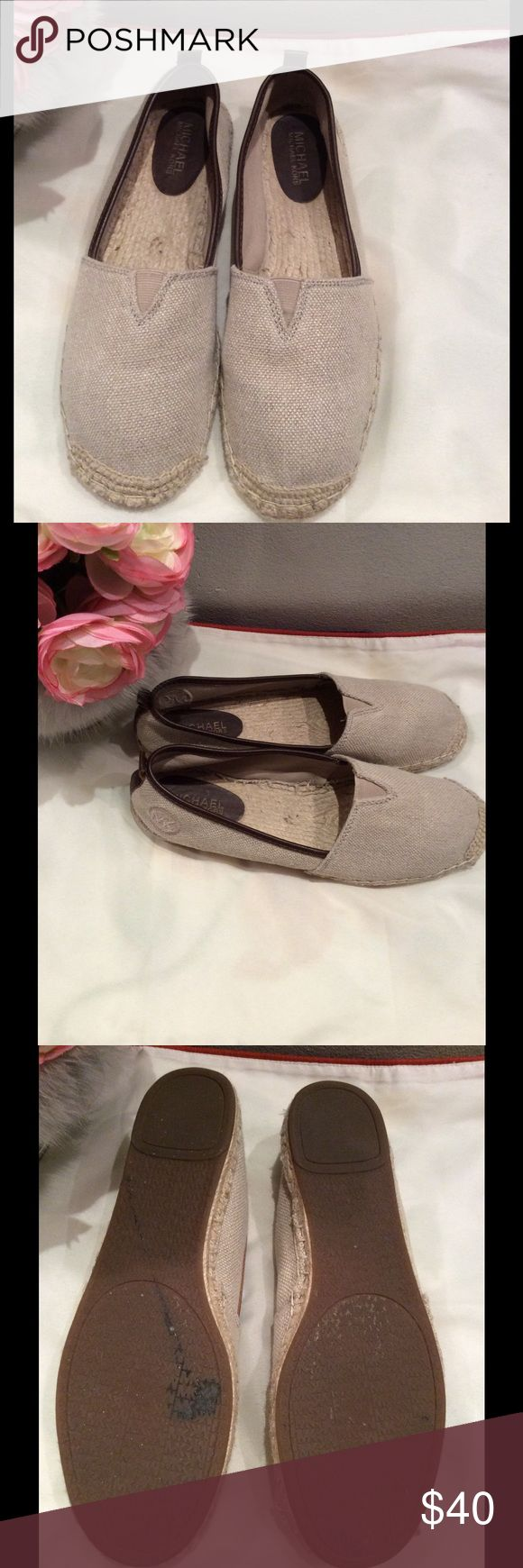 Michael Michael Kors Meg Slip On Women US9.5 Nude Michael Michael Kors Meg Slip On Women US 9.5 to 10 Nude Espadrille Pre Owned 1854 MICHAEL Michael Kors Shoes Flats & Loafers