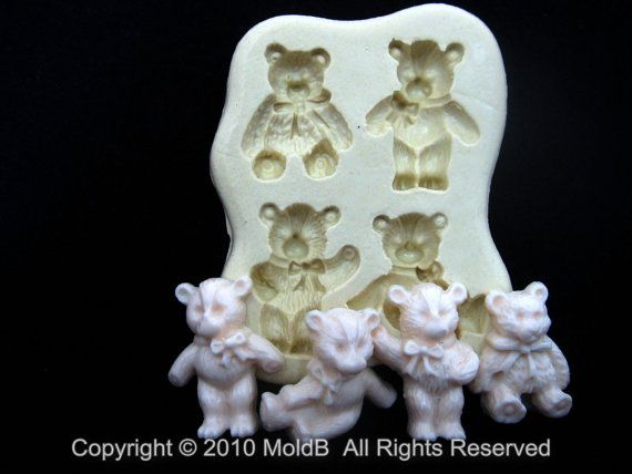 Silicone molds Animal Mold Sugarcraft Polymer Clay Soap ...