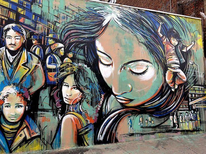 alice pasquini street art | Alice Pasquini street art in Bushwick NYC Girls on Walls, Part VIII ...