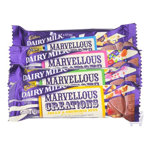 Marvellous Creations Assorted Chocolate Bars - 4x 50 g | Shop Australia