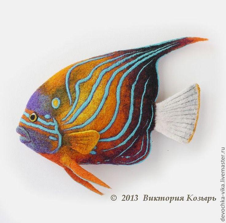 """Заколки ручной работы. Ярмарка Мастеров - ручная работа """"Оранжевая рыба"""". Handmade."""