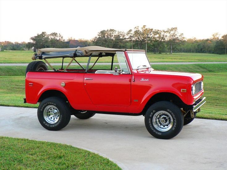 1969 international scout my ideal vehicle it 39 s a convertible truck i think i just found my