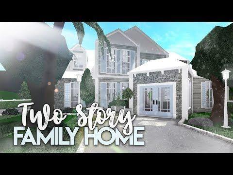 Bloxburg 2 Story Family House House Build Youtube In 2020 Modern House Floor Plans Family House Plans Two Story House Design