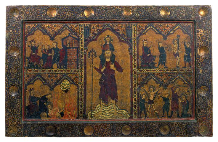 Frontal de sant Cristòfol   Museu Nacional d'Art de   Catalunya  Pintura Inicis del segle XIV 102,2 x 158,3 x 7 cm