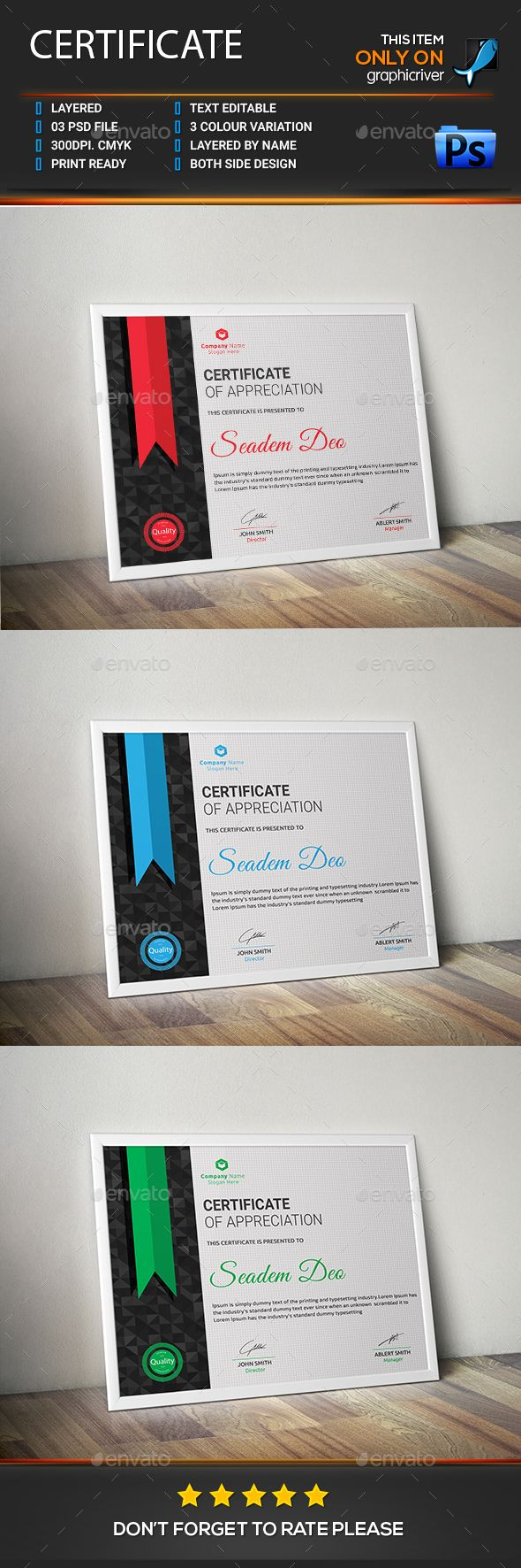 Certificate - #Certificates #Stationery Download here: https://graphicriver.net/item/certificate/18543930?ref=alena994