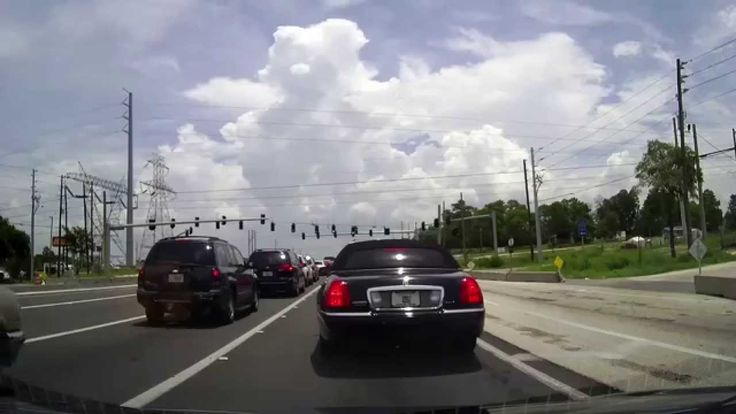 Driving from Brooksville to Brandon, Florida
