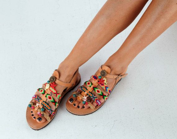 Women's Shoes Greek Sandals Gladiator Leather by DimitrasWorkshop
