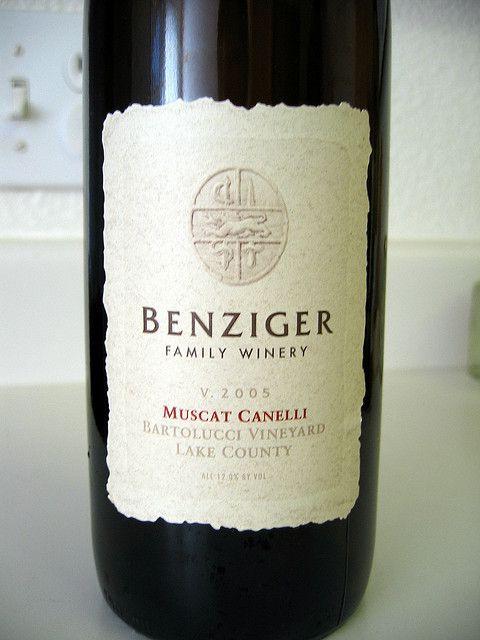 Muscat Canelli, Benzinger