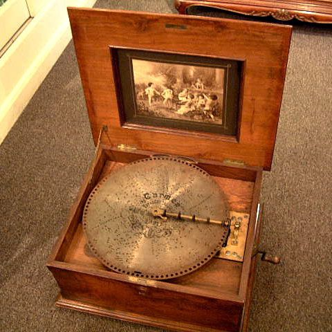 antique music box music box period antique victorian disc music box ...