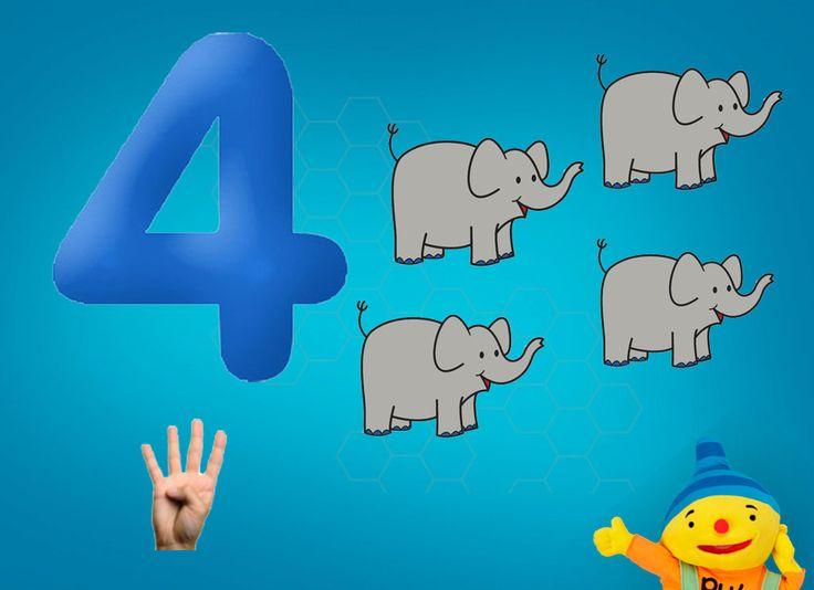 Rekenprikkels - 4 olifanten