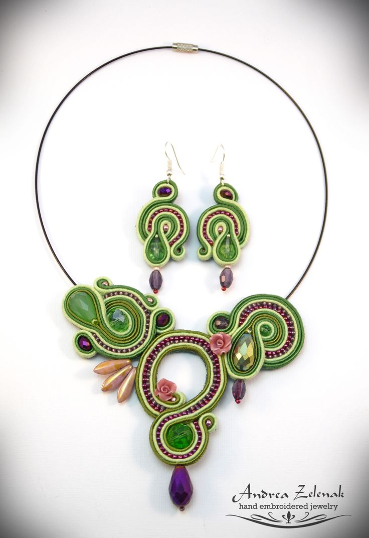 Soutache necklace / earrings S0268