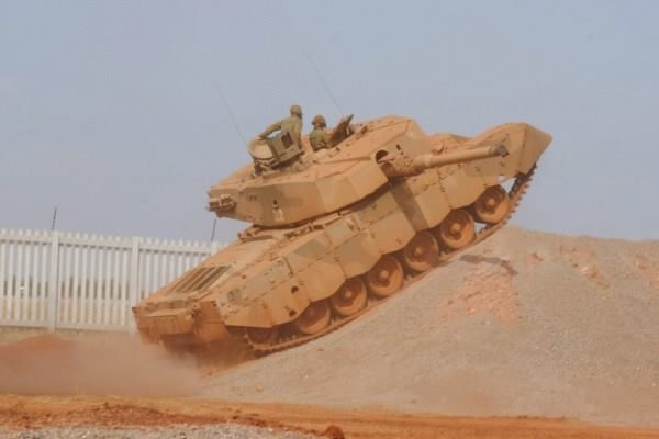 South African Army - Armor - Olifant Mk1B – Main Battle Tank – Has a Crew of 4 (Commander, Gunner, Loader and Driver) Armament: 1 x 105mm (L7) Rifled Gun, 1 x 7.62mm Co-Axial and 1 x 7.62mm Anti-Aircraft Machine Guns.