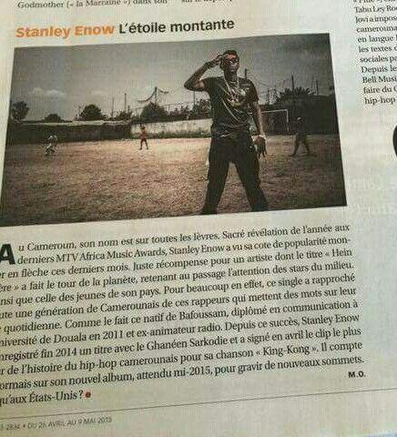 Jeune Afrique magazine feature for Stanley Enow 2015. Twitter/ Instagram: @StanleyEnow