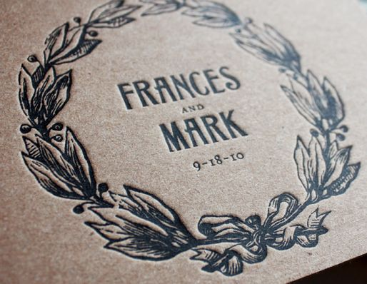 love the brown paper but fancy printing