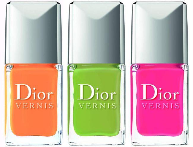 Dior Vernis! Cores: Mango (coral), Lime (verde limão) e Pasteque (fúcsia).