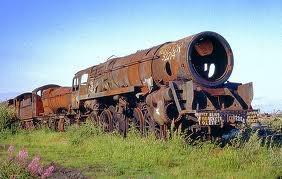 British Rail 9F - Barry Scrapyard