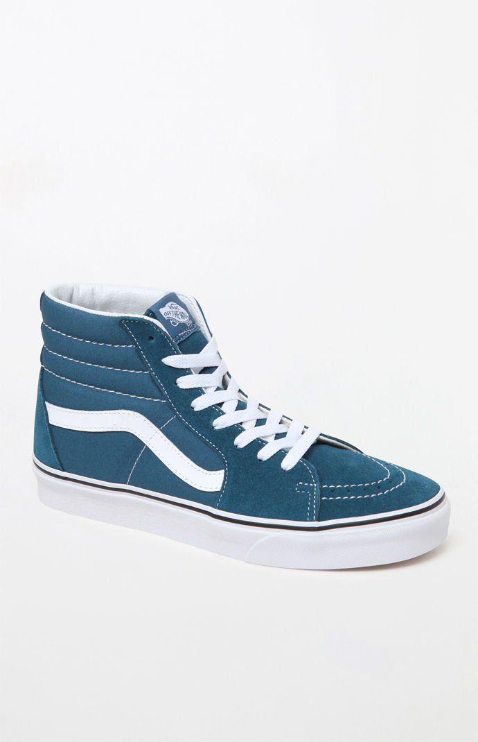 5cf21a0c4d Vans Women s Blue Sk8-Hi Sneakers at PacSun.com