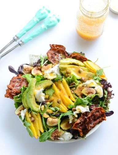 nectarine and fig summer salad with crispy pancetta I howsweeteats.com