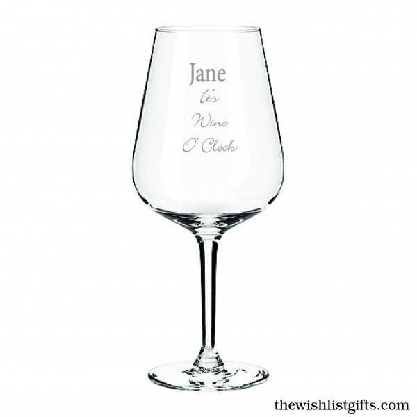 'Its Wine O'clock' with your name makes a fun and thoughtful gift for any wine drinker. Everyone loves Wine O'Clock!!