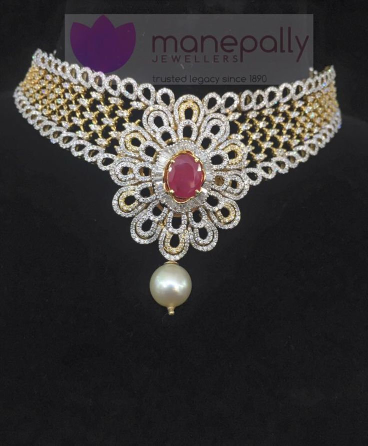 Designer Diamond Choker Necklace Designs, Designer Diamond Necklace Designs