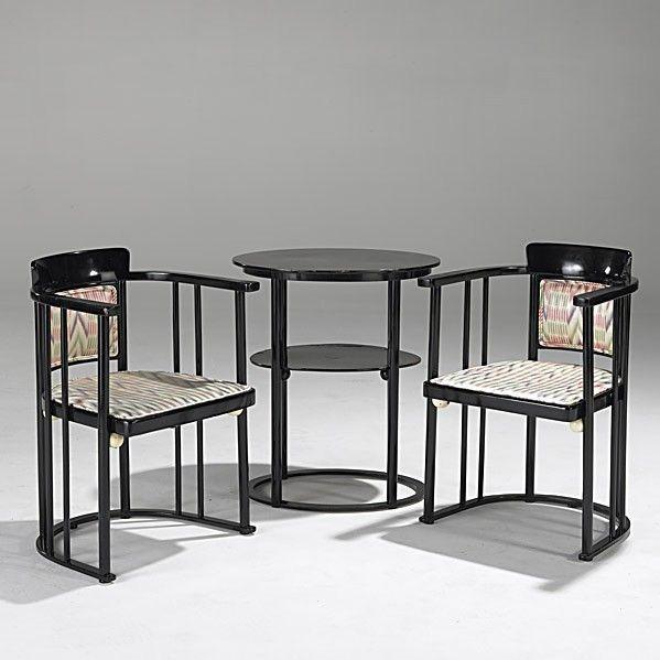 JOSEF HOFFMAN; J. U0026 J. KOHN; Chairs And Table