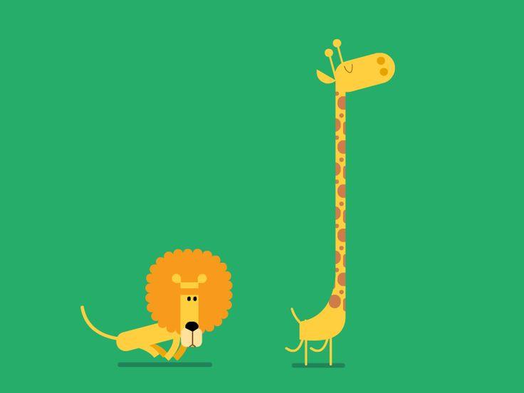 león y jirafa