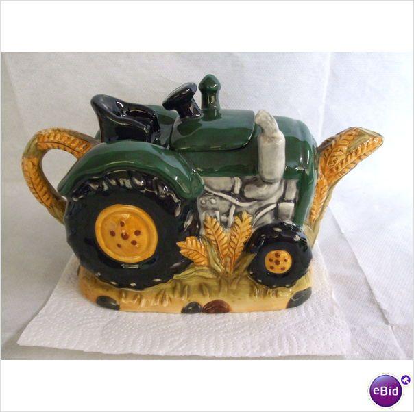 Vintage Teapots | Vintage Green & yellow Tractor Teapot on eBid United Kingdom