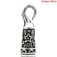 """DoreenBeads Zinc Alloy Metal Cylinder Toggle Antique Silver Clasps 24mm x 8mm (1 """"x 3/8""""), 2 Unids 2016 new"""