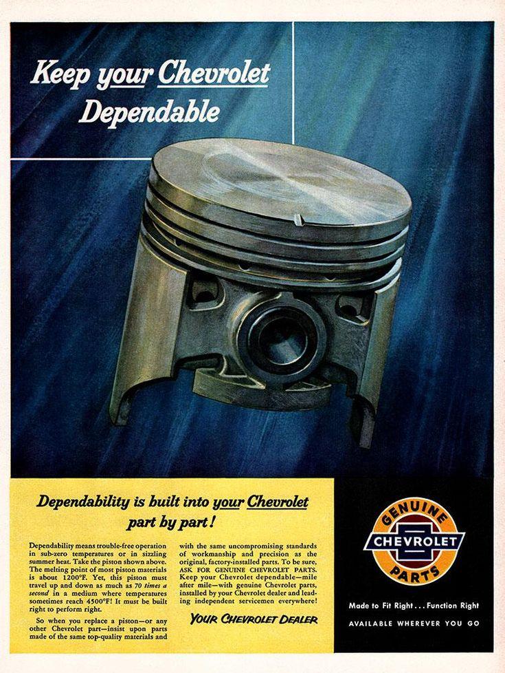 Original 1955 Genuine Chevrolet Parts Ad