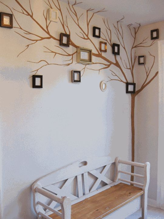 "Picture Frame Family Tree :  idea for a ""CTRL Key Tree"".  This is more subdued and would emphasize the actual CTRL Keys.  Doesn't necessarily have to be inside picture frames."