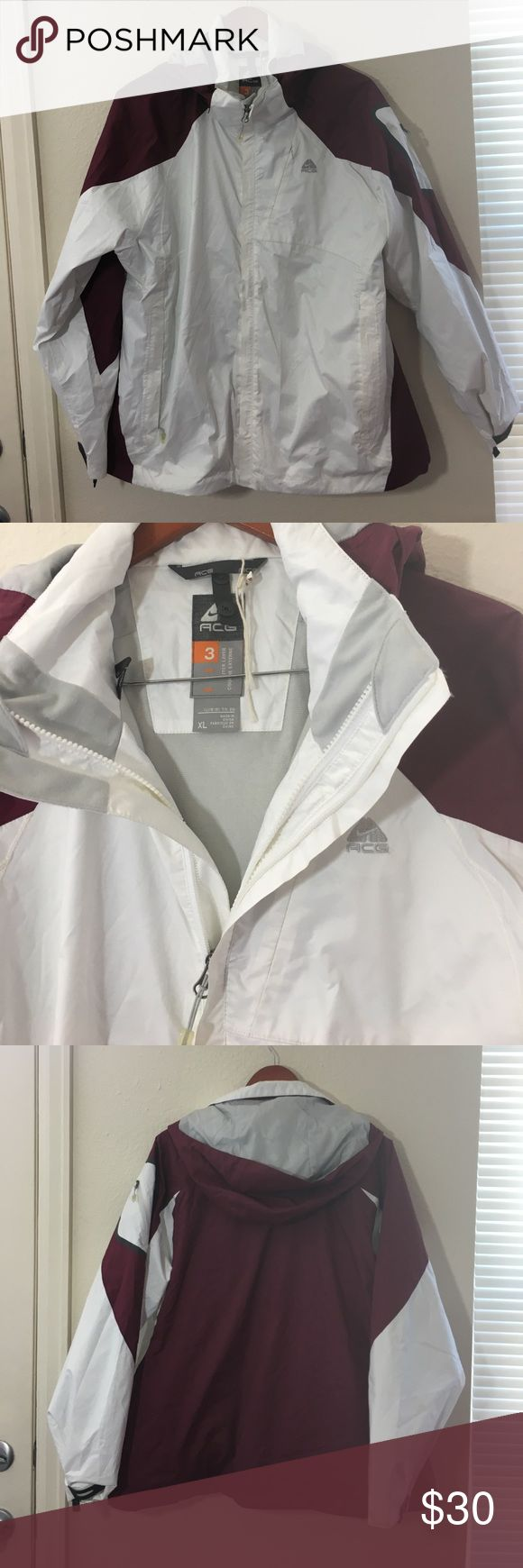 Nike acg winter coat Coat is actually an outer shell with zippers that allow you to zip any other coat inside. Nike Jackets & Coats Utility Jackets