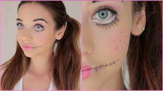 Creepy Doll Halloween Makeup Tutorial!