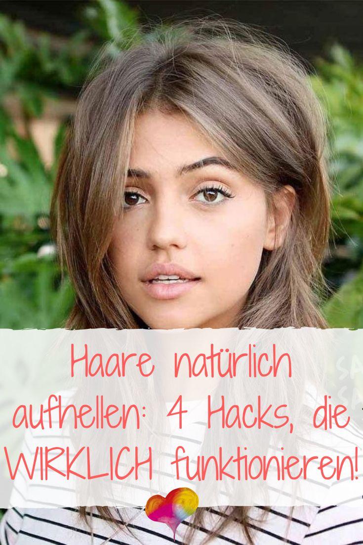 Haare natürlich aufhellen: 4 Hacks, die WIRKLICH funktionieren!