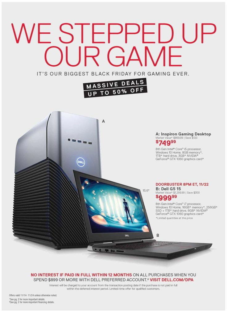 Dell Home Home Office Black Friday 2018 Ads And Deals Browse The Dell Home Home Office Black Friday 2018 Ad Scan And The Black Friday Black Friday Ads Ads