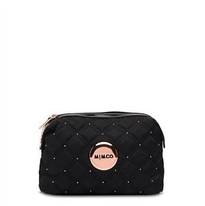 BNWT Authentic Mimco Cosmos COS Cosmetic Case Small Black Rose Gold Hardware | eBay