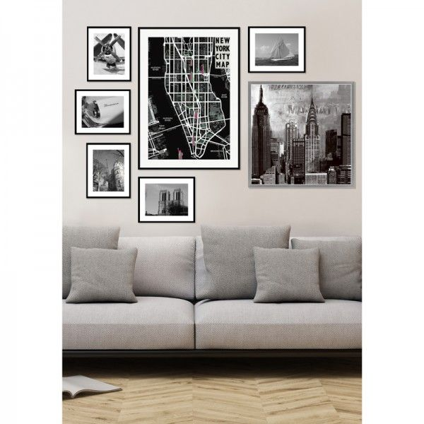 Cadres déco - noir et blanc- reprenant différentes thématiques - New York, Paris, voitures de collection, avion. Ces produits sont à retrouver sur notre site www.cosygallery.com