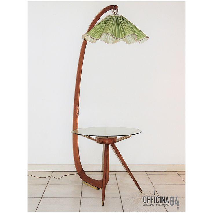Lampada con tavolino anni '50 arredamento design milano