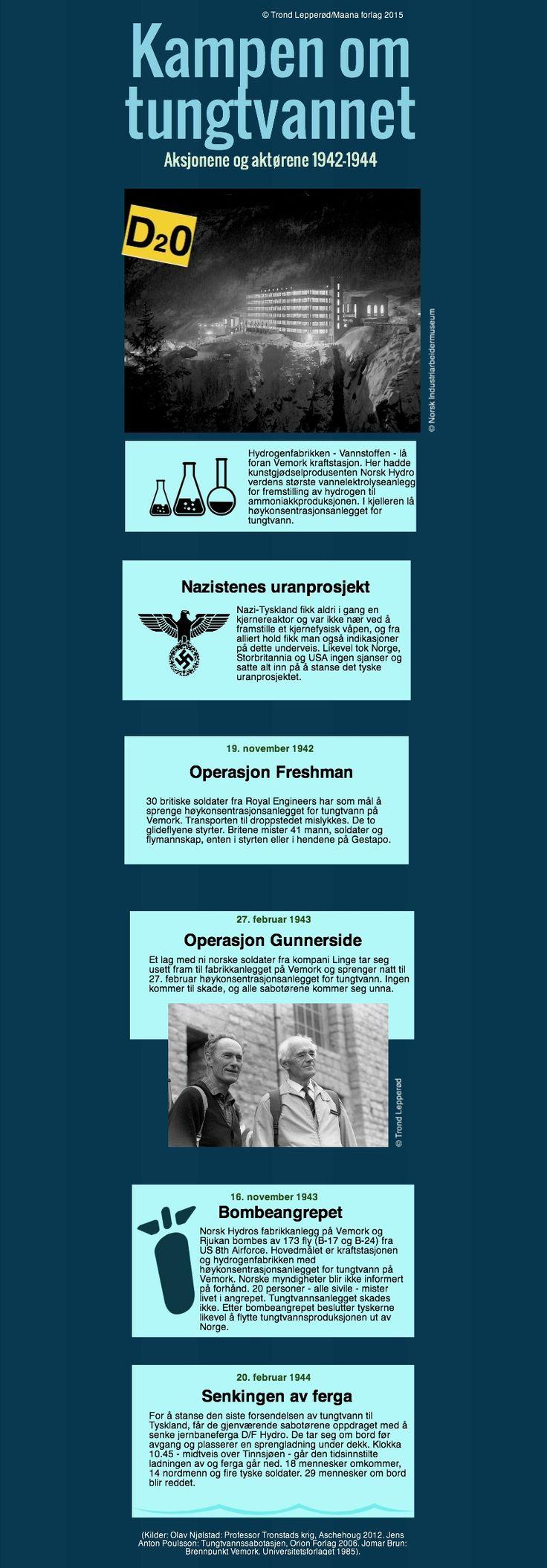 Kampen om tungtvannet | Piktochart Infographic Editor