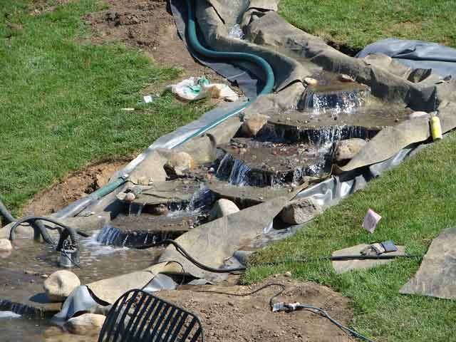 10 best rock a roll pond liner images on pinterest pond for How to build a fish pond with a liner