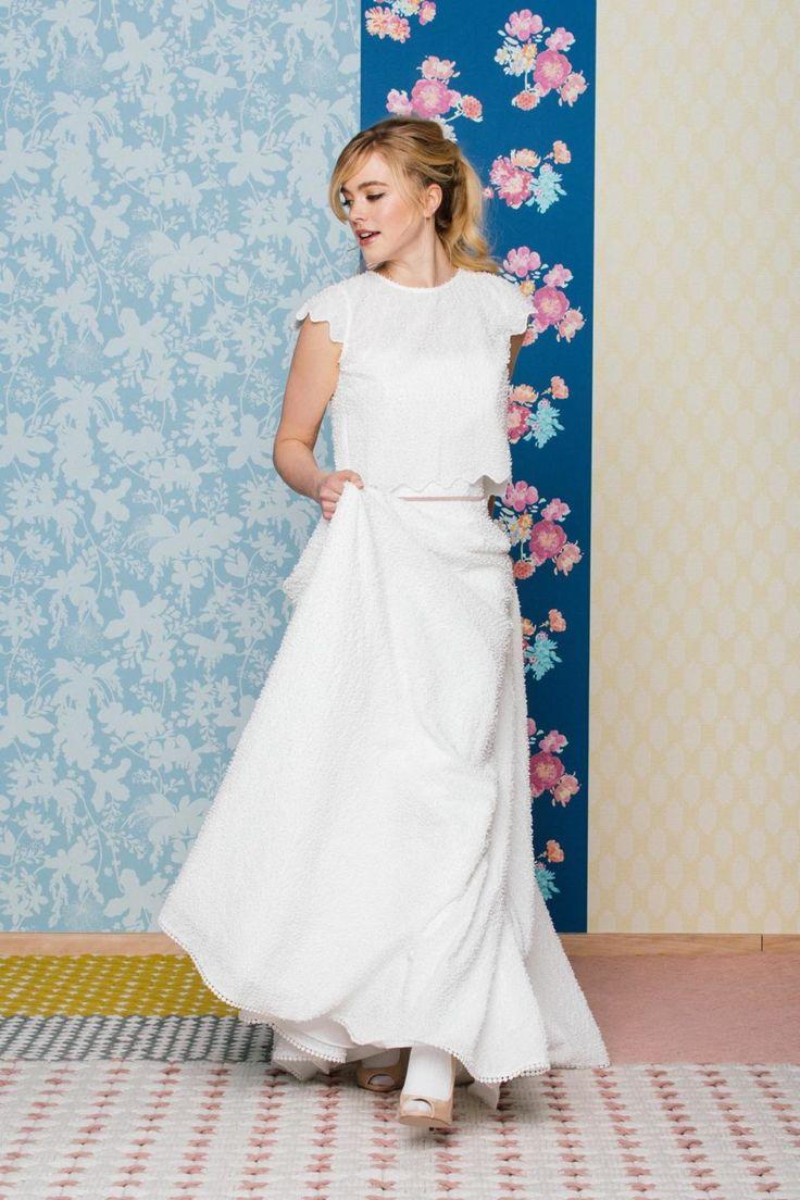 Trägerloses Hochzeitskleid mit Taschen und hinreißenden
