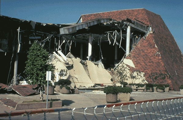 Northridge Mall destruction from Northridge Earthquake. That was one of big department anchor stores, Bulloch's, I believe.