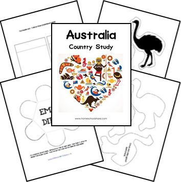 Australia Country Study  Lapbook