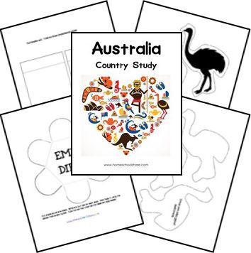 FREE Australia Study Lapbook