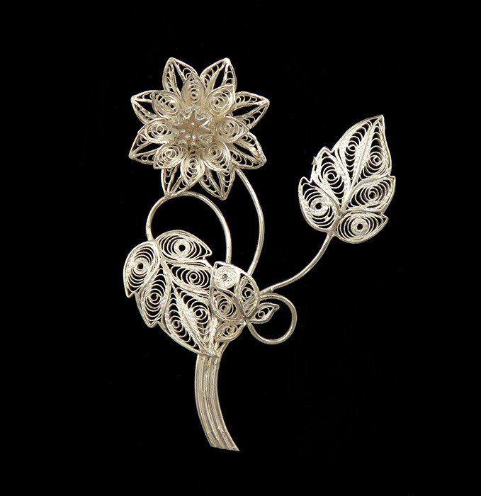 Gorgeous Vintage 1950/'s Vintage SOLID Sterling Silver FILIGREE FLOWER Bracelet-Extremely Detailed-Length 16.75cm -12.98 gm 6 /& 916 inches